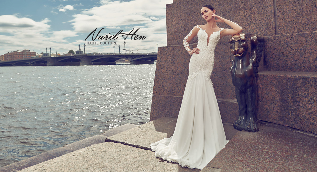 04de79462d2 Wedding dress designs by Nurit Hen featured in our Chicago   Oakbrook  Terrace salon