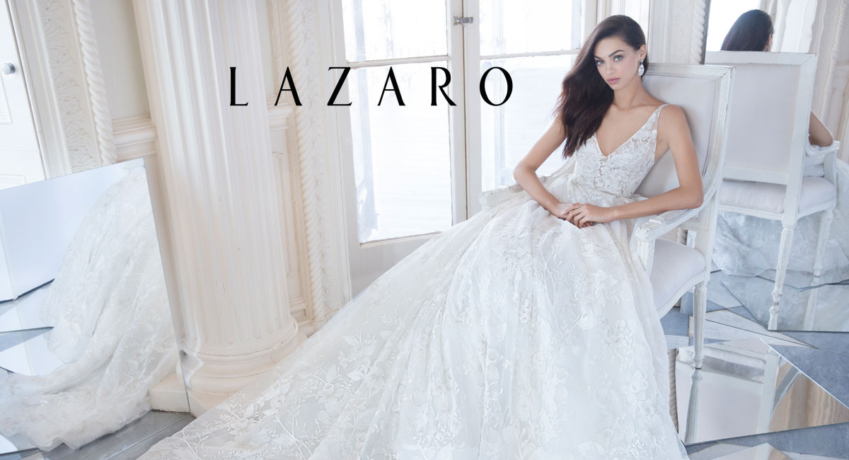 bcd47c211b08 Wedding dress designs by Lazaro featured in our Chicago & Oakbrook Terrace  salon